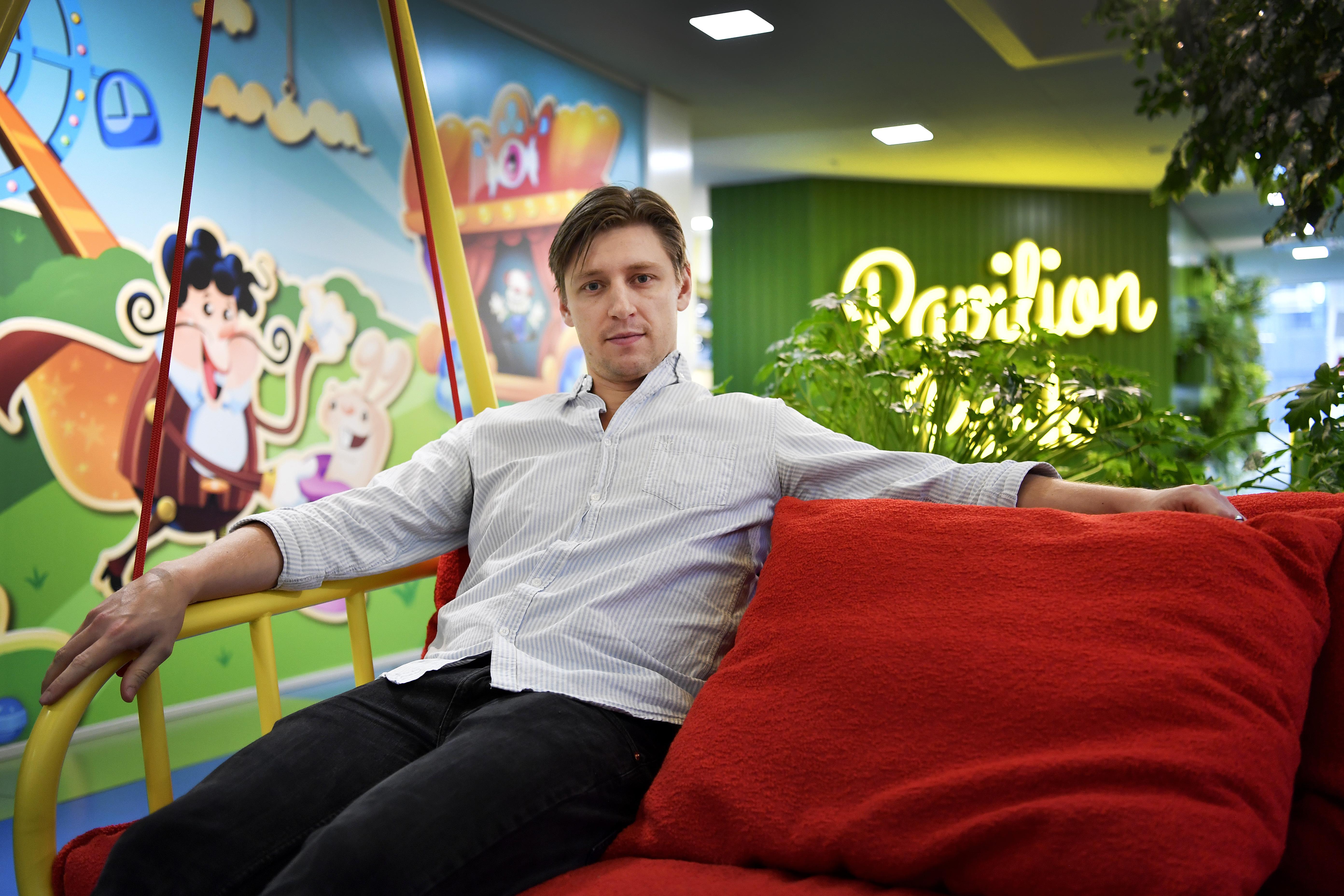 FOTO: STEFAN MATTSSON. Spelföretaget King som gör Candy Crush. Vill ha bilder på kontoret I STOCKHOLM + på producenten som jag ska intervjua.