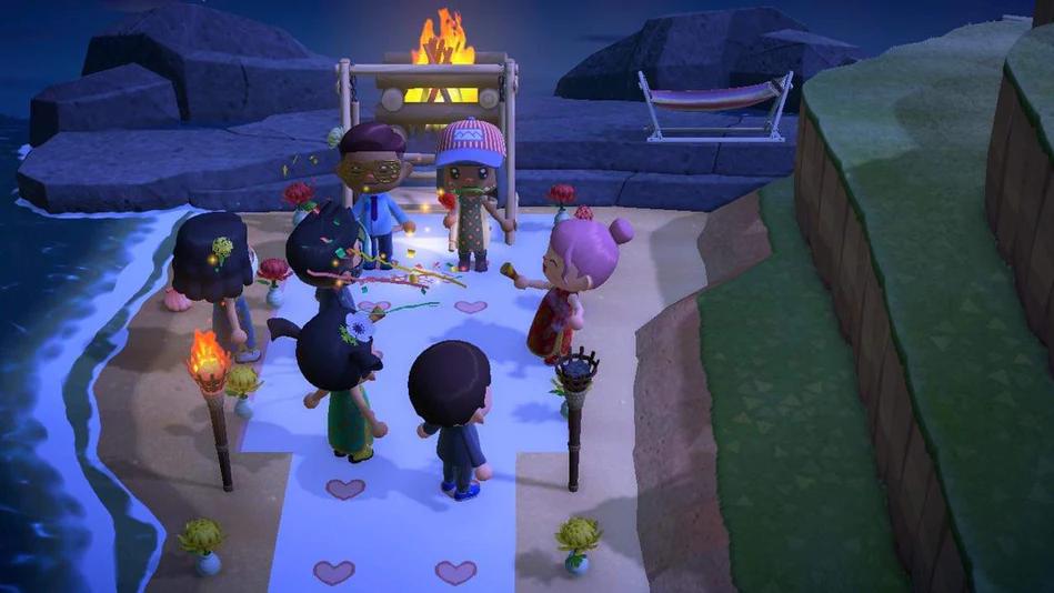 """Bröllopet ställdes in – då gifte de sig i """"Animal Crossing"""""""