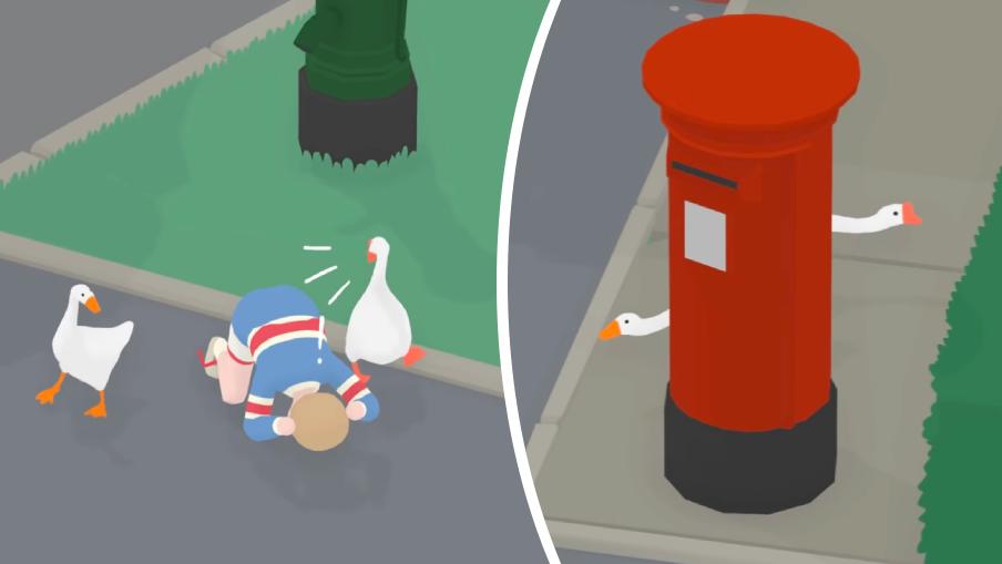 """Terrorn skruvas upp i """"Untitled Goose Game"""" – med två gäss"""